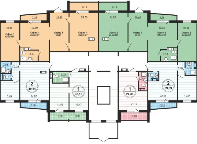 Планировка на 1 этаже