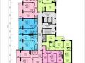 Планировки квартир, 13 этаж