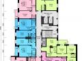 Планировки квартир, 15 этаж