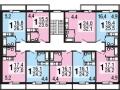 Планировки квартир, 2-4 этажи