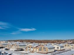 Панорамный вид на блокированные дома